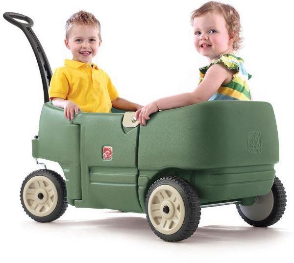 Billede af Step2 Trækvogn til 2 grøn - Step2 trækvogn 766500