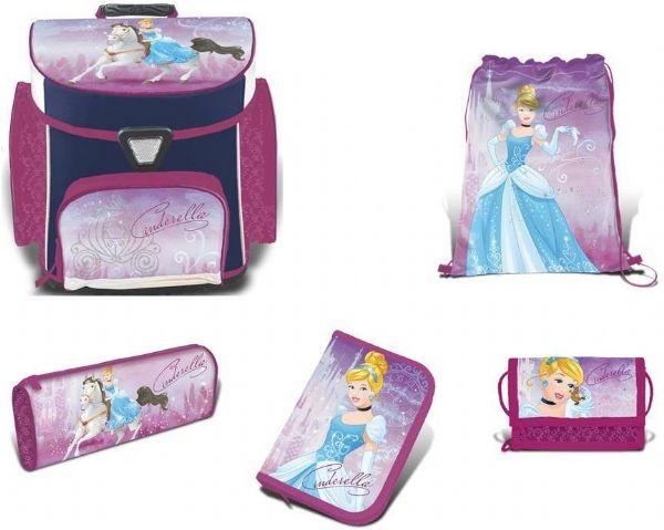 Image of   Askepot Skoletaske sæt 5 dele - Disney Princess skoletaske 758608