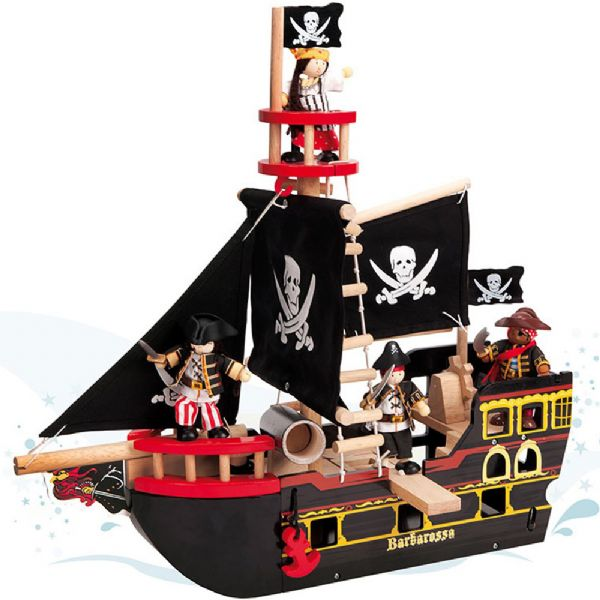 Image of Barbarossa piratskib - Le Toy Van Pirater 341246