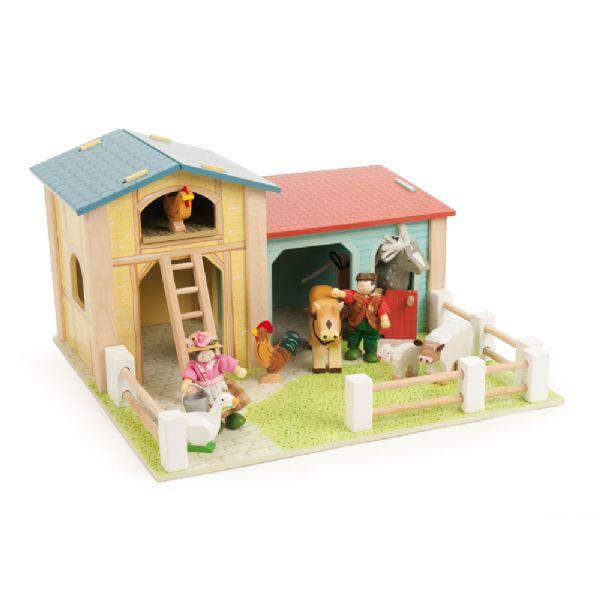 Image of Den lille bondegård - Le Toy Van træ bondegård 414111 (206-414111)
