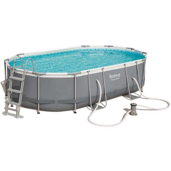 Image of Power Steel pool 10.949L 488x305x107 cm - Bestway svømmebassin 56448 (219-056448)