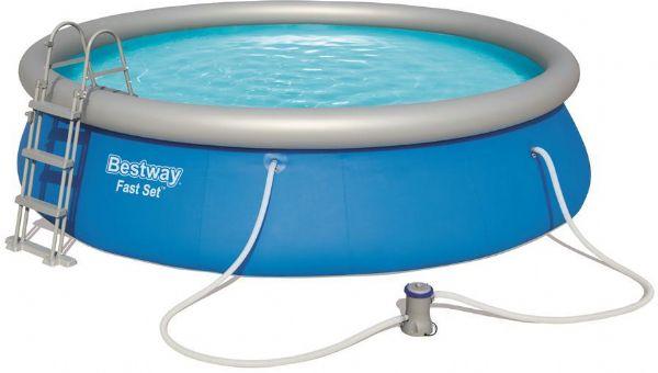 Image of Fast Set Pool 12.362L 457x107cm - Bestway Svømmebassin 57294 (219-057294)