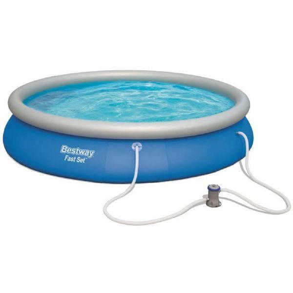 Image of Fast Set pool 9.677L 457x84 cm - Bestway svømmebassin 57313 (219-057313)