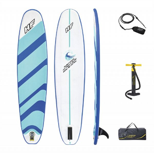 Image of   Compact Surf Paddle Board 243x57x7cm - Hydro Force paddle board 65336