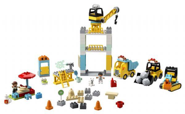 Byggeplads med tårnkran - LEGO Duplo 10933 - Byggeklodser - LEGO