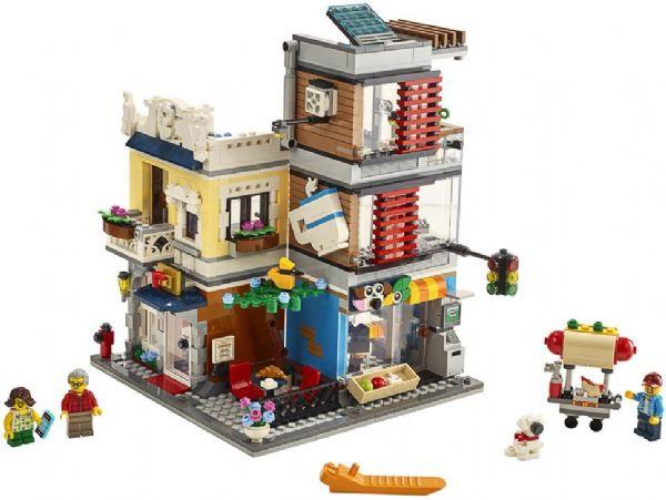 Image of Byhus med dyrehandel og café - Lego Creator 31097 (22-031097)