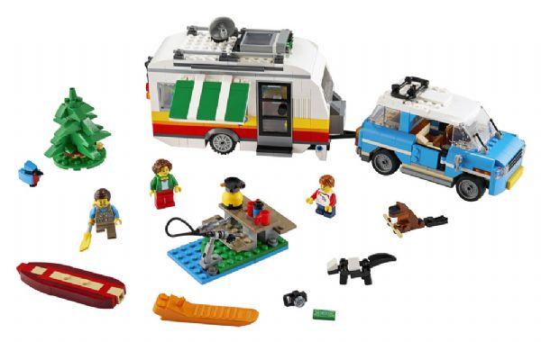 Familieferie med campingvogn - LEGO Creator 31108 - Byggeklodser - LEGO