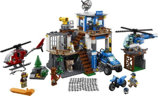 Image of Bjergpolitiets hovedkvarter - LEGO City Police 60174 (22-060174)