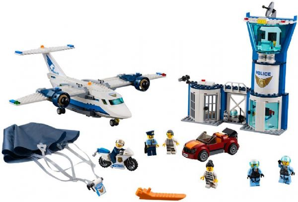 lego Luftpolitiets luftbase - lego city 60210 på eurotoys