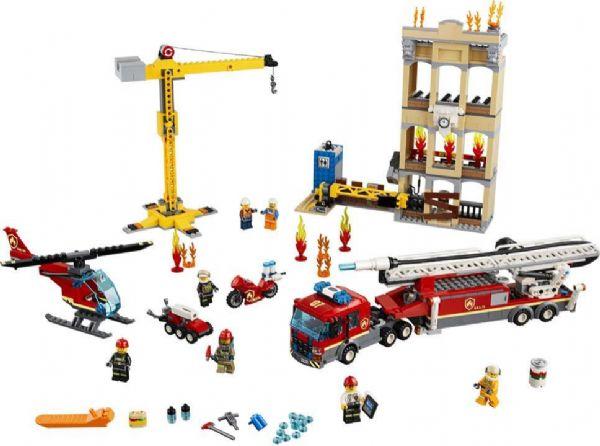 Midtbyens brandvæsen - lego city 60216 fra lego på eurotoys