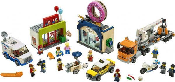 Image of Åbning af doughnutbutikken - Lego City 60233 (22-060233)