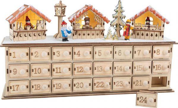 Image of   Julekalender Julemarked - Pakkekalender træ 1290