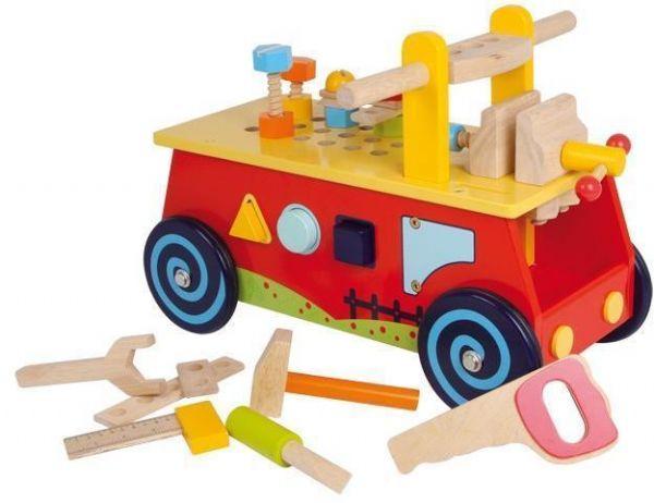 Image of   Aktivitetsbil med arbejdsbænk - Værktøj 001595