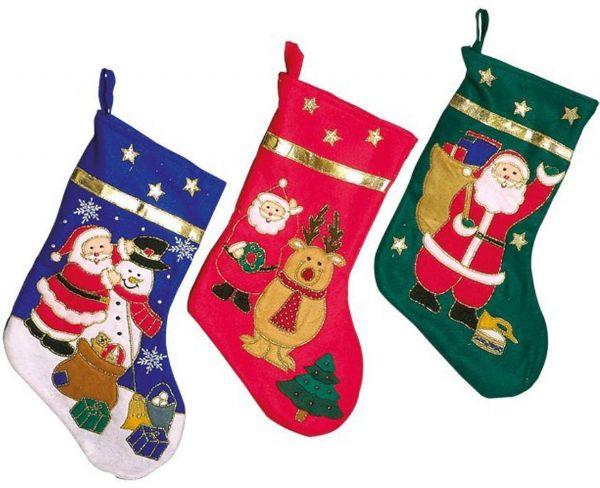 3 stk. Julesokker - Julekalender 001692