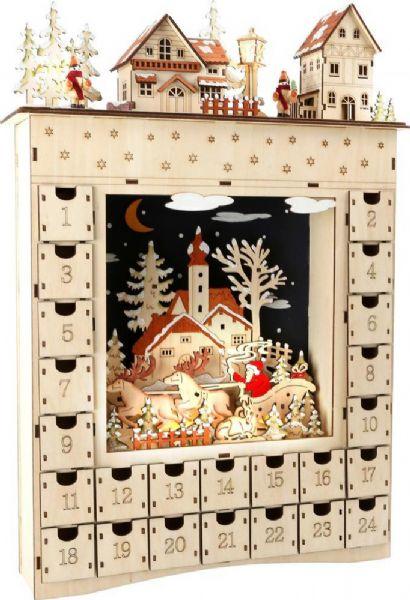 Image of   Julekalender Vinterdrøm med 24 låger - Pakkekalender winter dream 10215