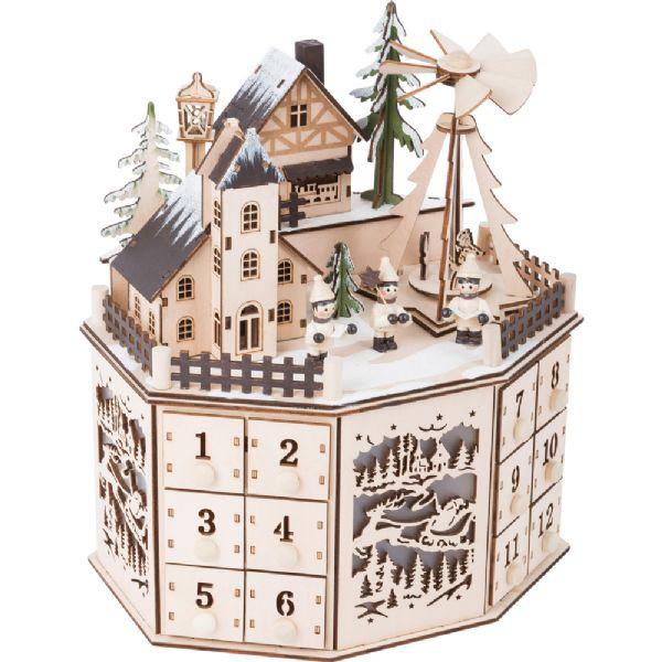 Image of   Julekalender By med Julepyramide - Pakkekalender træ 10997