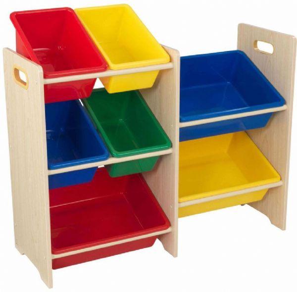 Image of Opbevaringsreol med 7 kasser Natural - Kidkraft børnemøbler 15470 (226-015470)