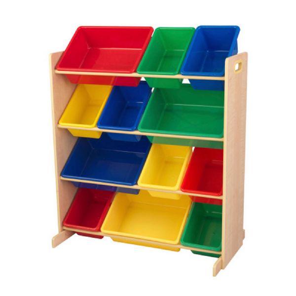 kidkraft Opbevaringsreol med 12 kasser - kidkraft børnemøbler 16774 fra eurotoys