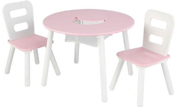 Image of   kidkraft Bord og stole sæt pink - Bord stole sæt pink/hvid 26165
