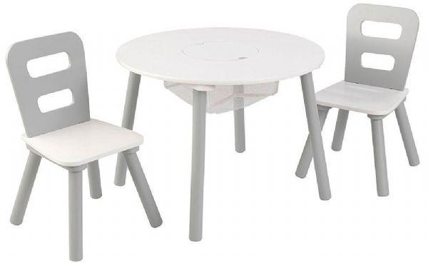 Image of   kidkraft Bord og stole sæt - Bord stole sæt grå og hvid 26166