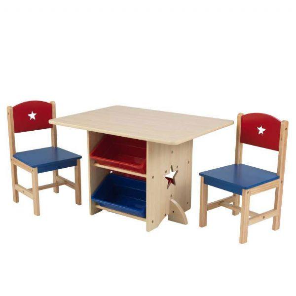 Image of   Stjerne Legebord med 2 stole - Kidkraft Børnemøbler 26912