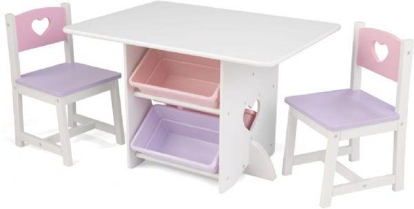 Image of   Hjerte Legebord med 2 stole - Kidkraft Børnemøbler 26913