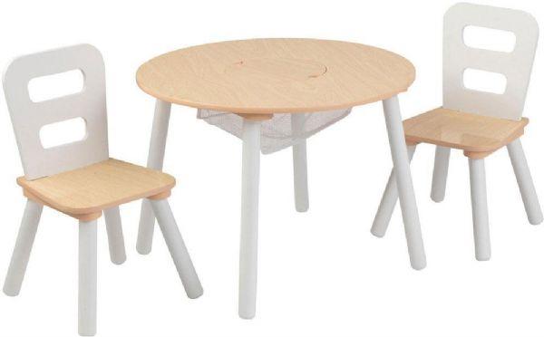 Image of   Opbevaringsbord med 2 stole - Kidkraft børnemøbler 27027