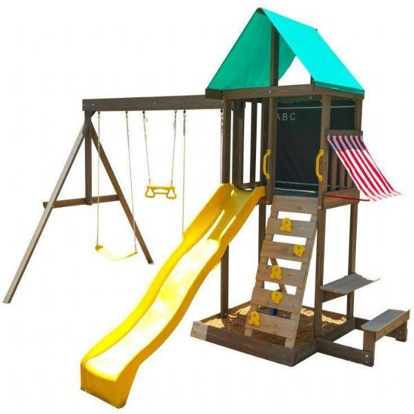 kidkraft – Newport træ legehus - kidkraft legehus 29015 fra eurotoys