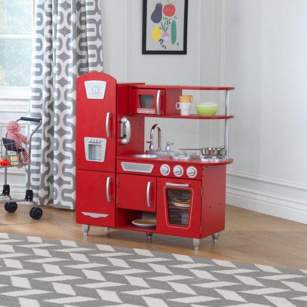 kidkraft – Legekøkken rødt vintage - kidkraft køkkener 53173 på eurotoys