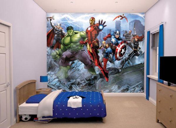 Image of The Avengers tapet - Walltastic Avengers 3D børnetapet 43848 (238-043848)
