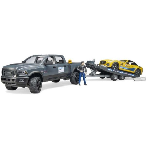Image of RAM 2500 power wagon + racer bil - Bruder biler 2504 (24-002504)