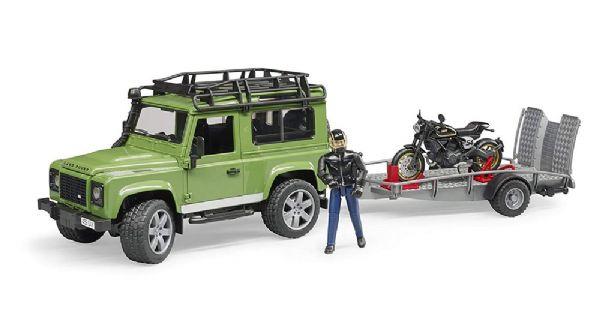 Image of Bruder Land Rover m. motorcykel - Bruder Adventure 02598 (24-002598)