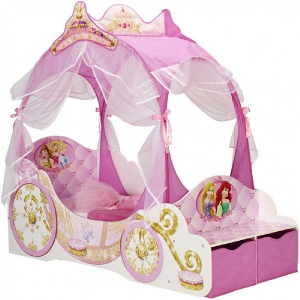 Image of   Disney Prinsesse karet seng u / madras - Børneseng 648964