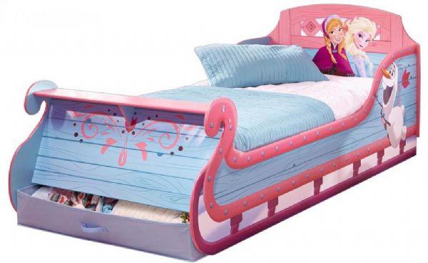 Image of Frost slæde seng med madras - Disney Frozen børneseng 658406X (242-658406X)