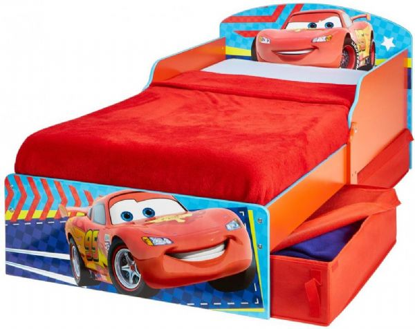 Image of Cars juniorseng med madras - Disney Biler børneseng 659076 (242-659076X)