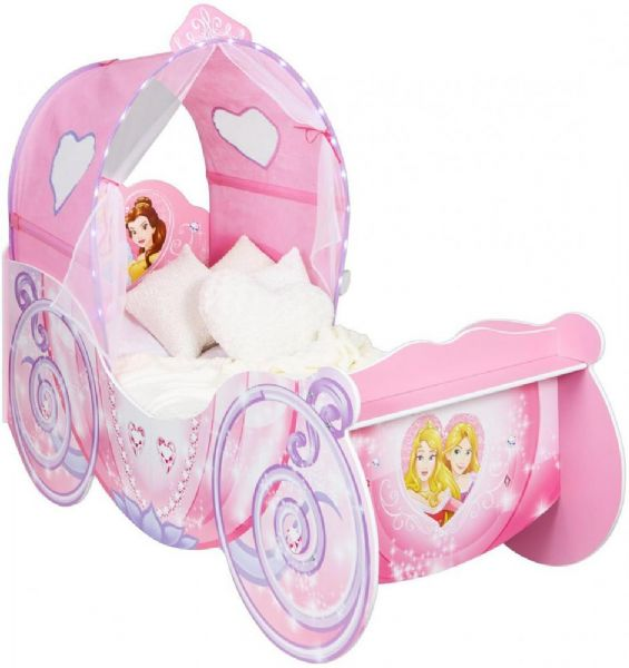 Image of Disney Princess karet juniorseng m. madr - Disney Princess Børnemøbler 660065 (242-660065X)