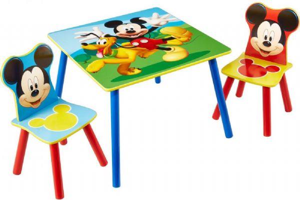 mickey mouse – Mickey mouse bord og stolesæt - disney mickey børnemøbler 661703 fra eurotoys