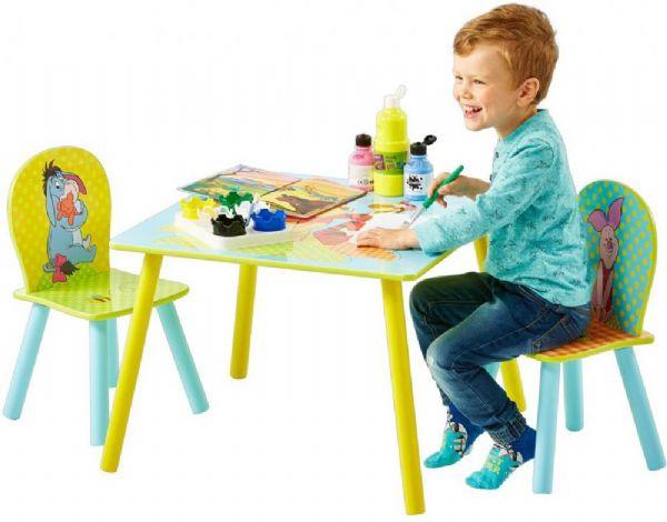 peter plys – Peter plys bord og stolesæt - disney peter plys børnemøbler 661727 fra eurotoys