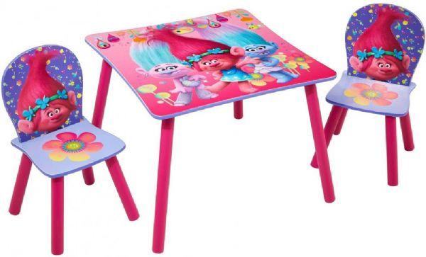 Trolls bord og stole - trolls børnemøbler 662755 fra trolls fra eurotoys