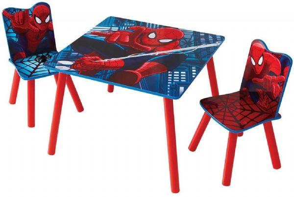 Image of Spider-Man bord og stole - Spiderman Børnemøbel 663509 (242-663509)