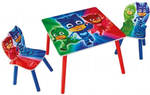 Image of   PJ Masks bord og stole - Pyjamasheltene børnemøbler 665565