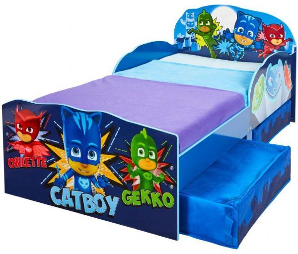 Image of PJ Masks juniorseng m. madras - Pyjamasheltene børnemøbler 666715 (242-666715X)