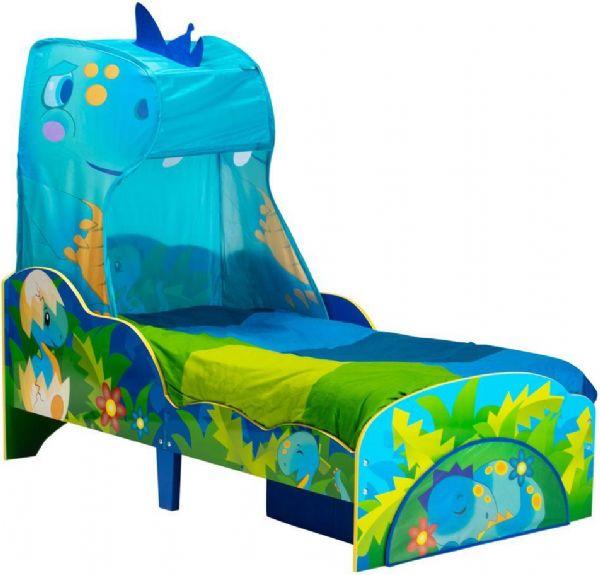 Image of   Dinosaur Juniorseng med madras - Dinosaur børneseng 669617X