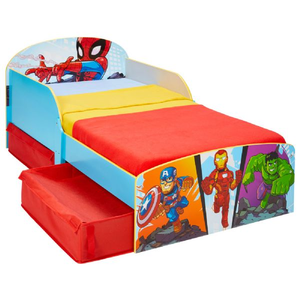 Image of Marvel Avengers Juniorseng m. madras - Marven avengers børneseng 670699X (242-670699X)