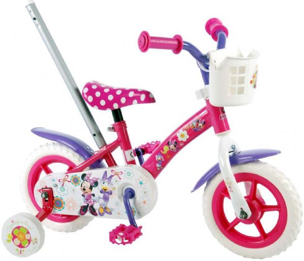 Minnie mouse børnecykel 10 tommer - disney minnie cykel 31008 fra minnie mouse fra eurotoys