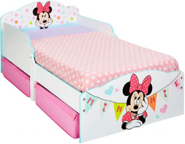 Image of Minnie Mouse juniorseng med madras - Disney Børneseng 667286X (261-667286X)