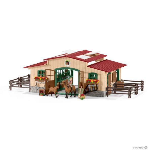 Stald med heste og tilbehør - schleich 42195 fra schleich fra eurotoys