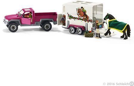 Image of   Pickup med hesteanhænger - Schleich Bil Trailer 42346