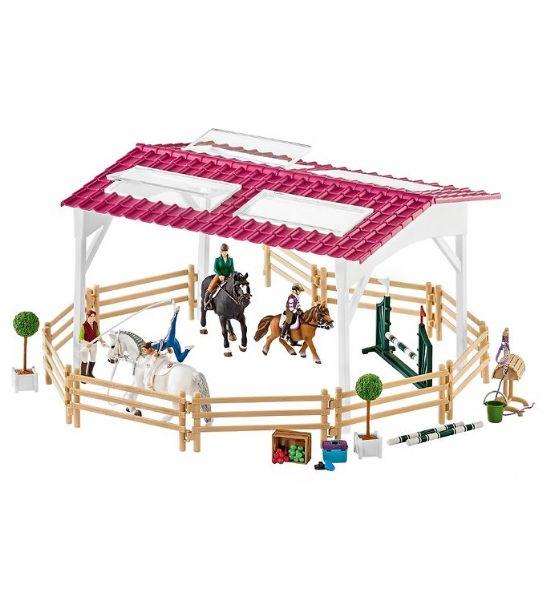 Image of Rideskole med ryttere og heste - Schleich 42389 (28-042389)