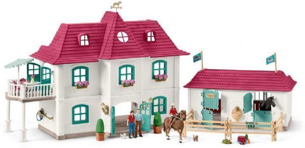 schleich – Stor hestegård med hus og stald - schleich bondegård 42416 fra eurotoys